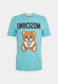 MOSCHINO - Print T-shirt - light blue - 4
