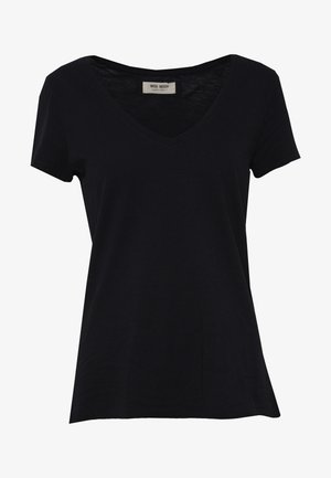 ARDEN V NECK TEE - Basic T-shirt - black
