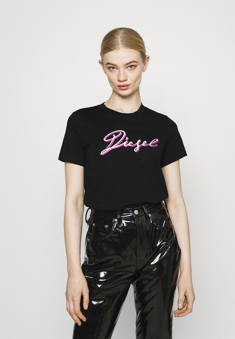 Diesel - T-SILY-K10 - Print T-shirt - black