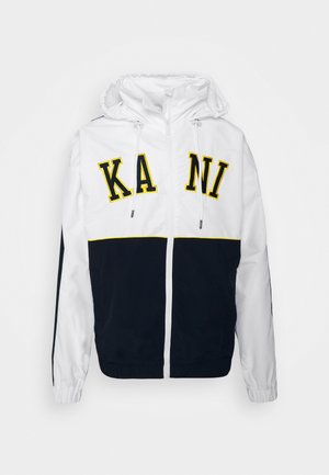 COLLEGE BLOCK WINDRUNNER - Summer jacket - white