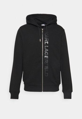 HOODY JACKET - Sweater met rits - black
