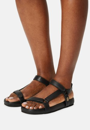 INTERLOCK FLAT - Sandals - black