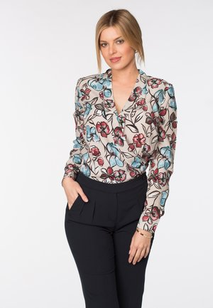 ELTON - Jumpsuit - blue bottom print top