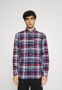 Selected Homme - SLHREGZANE SHIRT CHECK  - Shirt - brick red - 0