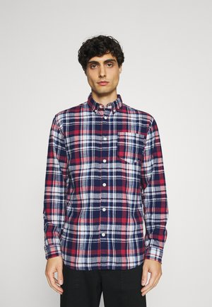 SLHREGZANE SHIRT CHECK  - Skjorta - brick red