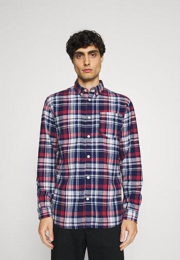 SLHREGZANE SHIRT CHECK  - Overhemd - brick red