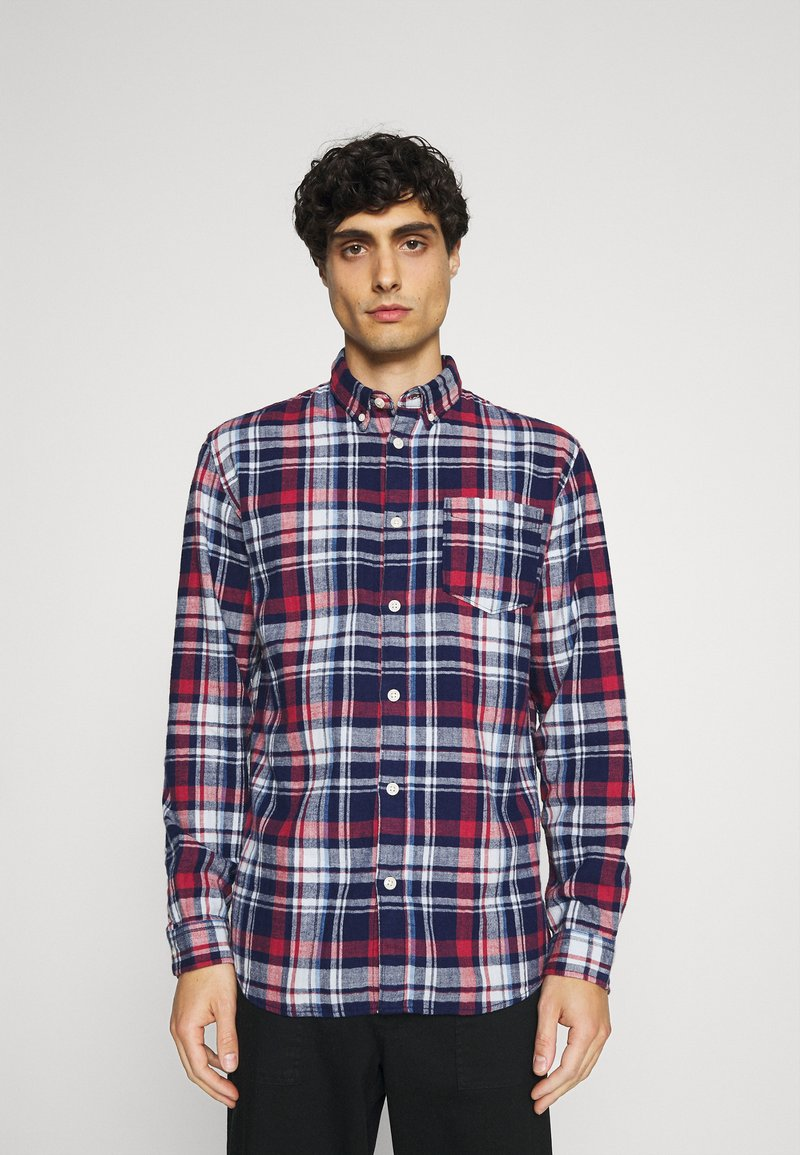Selected Homme - SLHREGZANE SHIRT CHECK  - Shirt - brick red