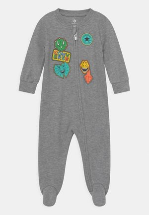 FAUX PATCHES COVERALL UNISEX - Jumpsuit - dark grey heather