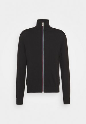 MENS ZIP THRU CARDIGAN - Kardigan - black