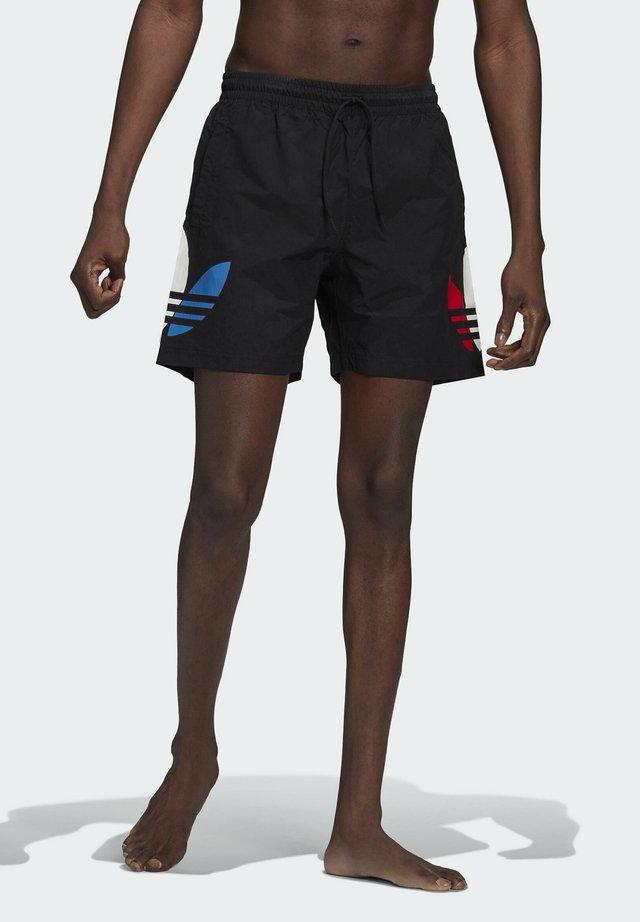 ADICOLOR SWIM SHORTS - Swimming shorts - black