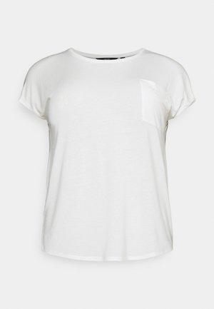 VMDAVA POCKET CURVE - Basic T-shirt - snow white