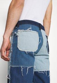 Jaded London - PATCHWORK SKATE - Straight leg jeans - blue - 5