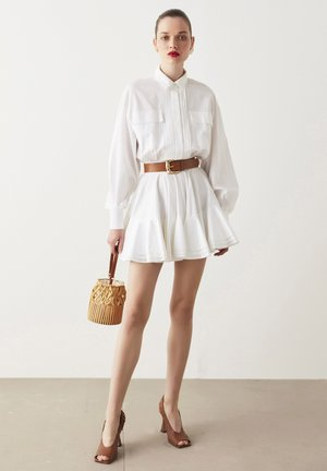 Poplin  - Shirt dress - white