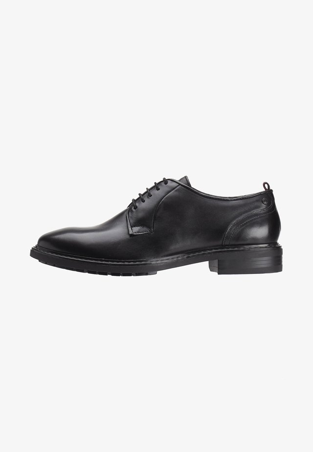BOSTON WASHED - Stringate - black