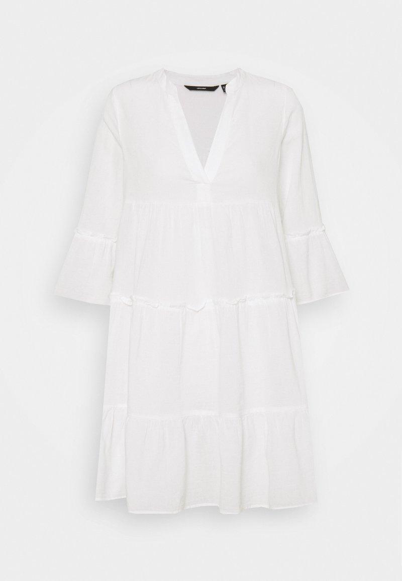 Vero Moda - VMHELI 3/4 SHORT DRESS - Day dress - snow white