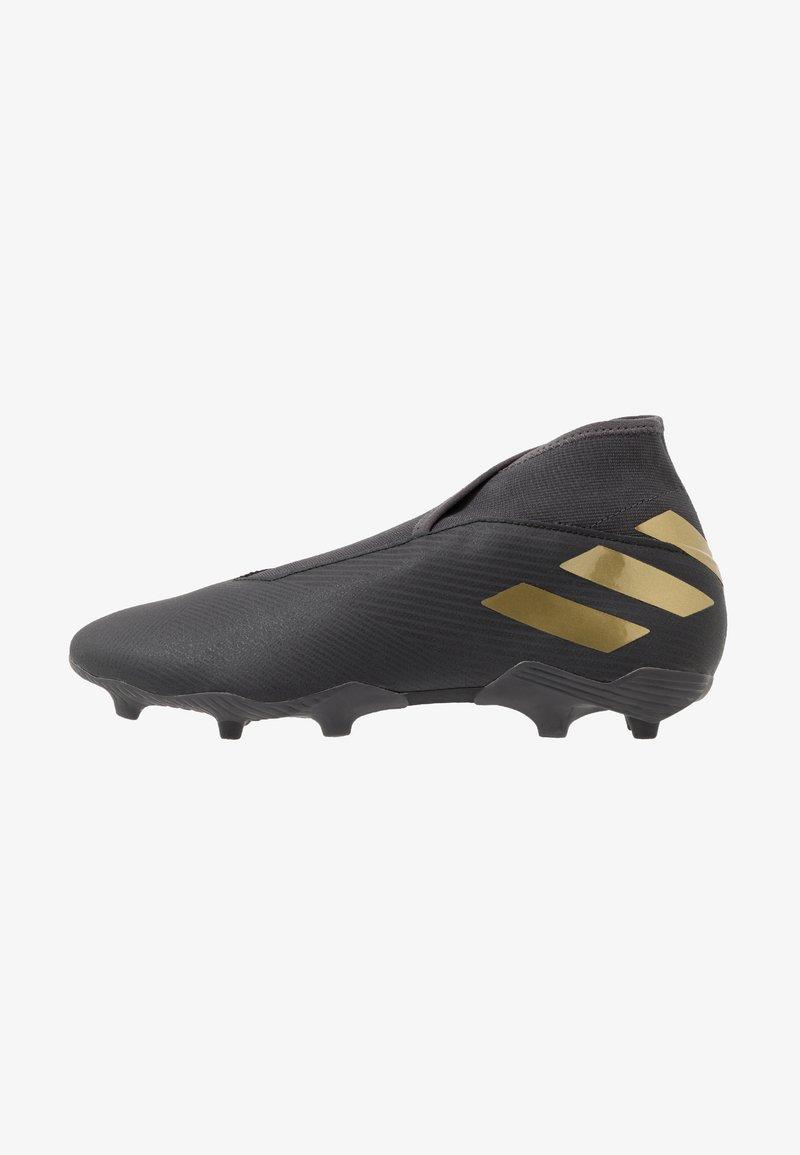 adidas Performance - NEMEZIZ 19.3 LL FG - Moulded stud football boots - core black/gold metallic/utility black