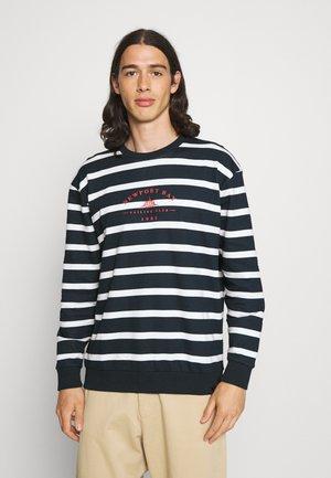 BOLD HORIZONTAL STRIPE - Sweatshirt - navy/white
