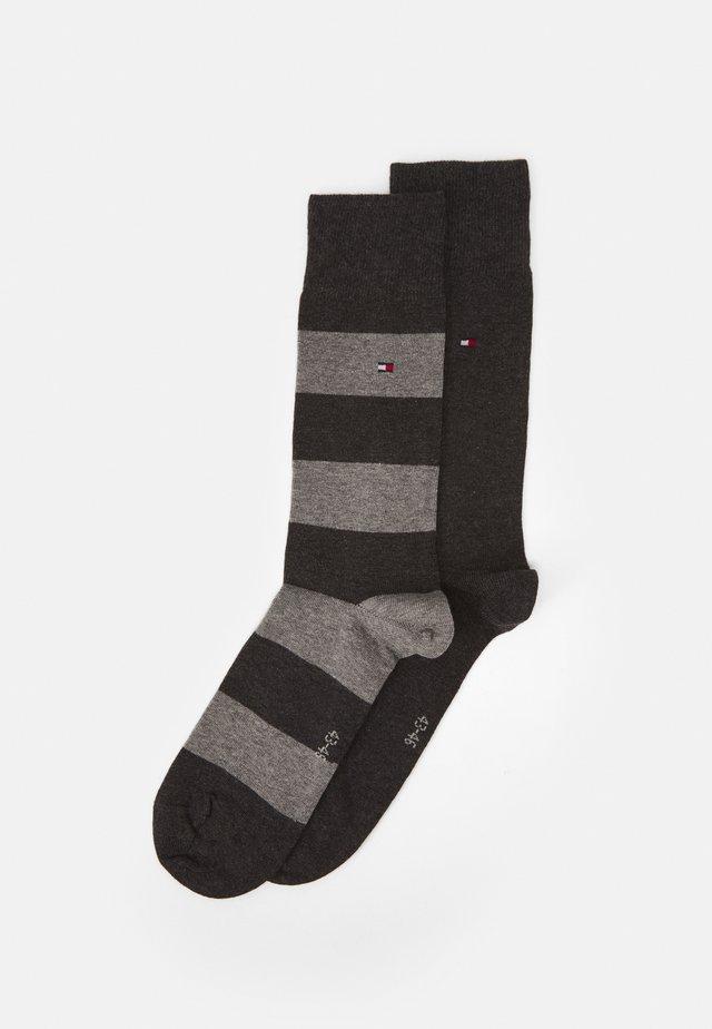2 PACK - Socks - anthracite/grey