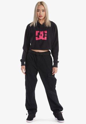 Sweatshirt - black/fuchsia