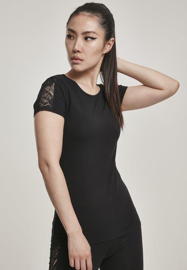 Urban Classics T-shirt z nadrukiem - black/czarny DSNK
