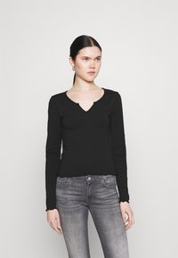 Even&Odd - Langærmede T-shirts - black - 0