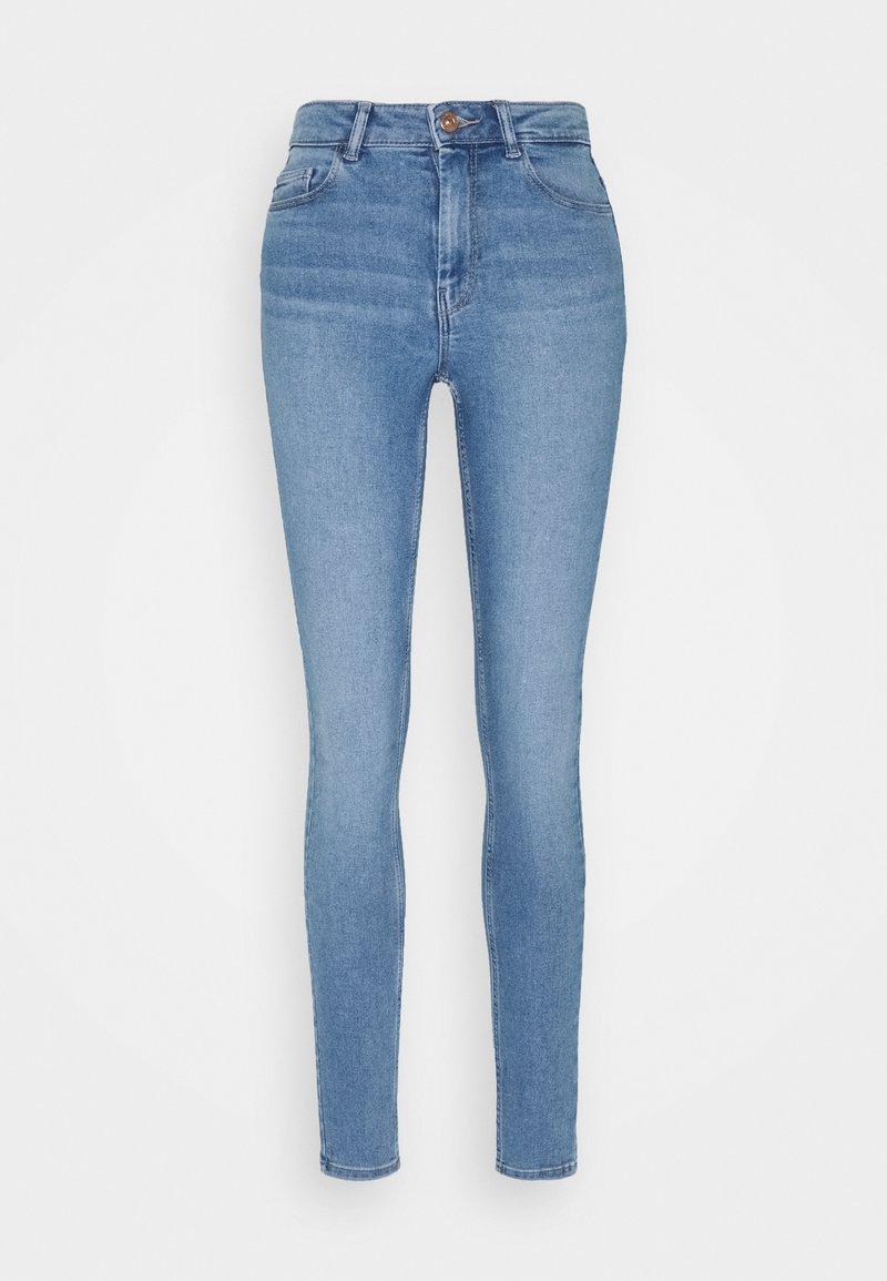 Pieces - PCMIDFIVE FLEX - Jeans Skinny Fit - light blue denim