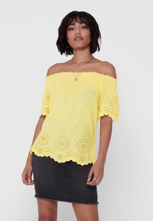 ONLNEW SHERY LIFE EMB ANG OFFSHO DN - Blouse - pineapple slice