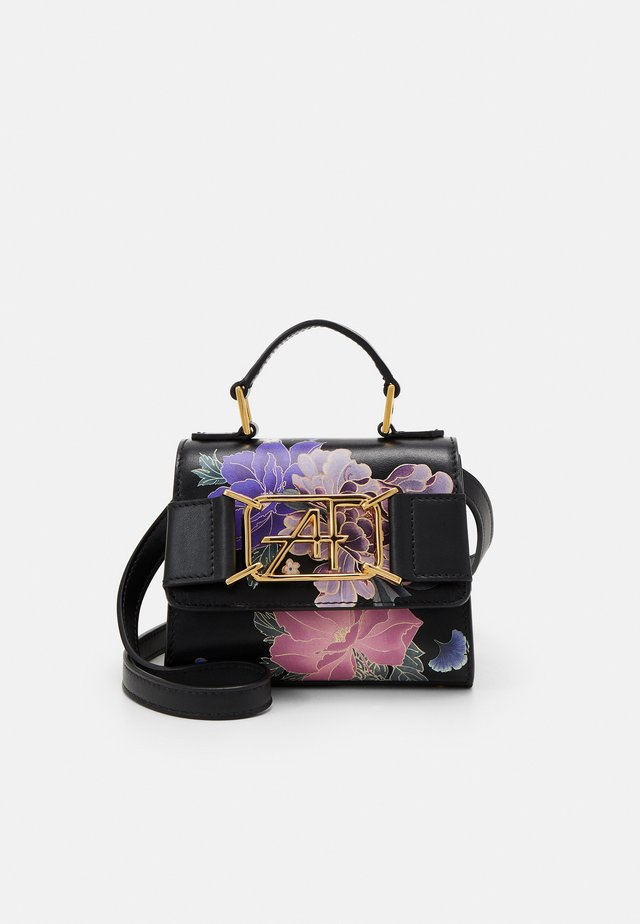 MEDIUM FLORAL TOP HANDLE - Handtas - fantasy black