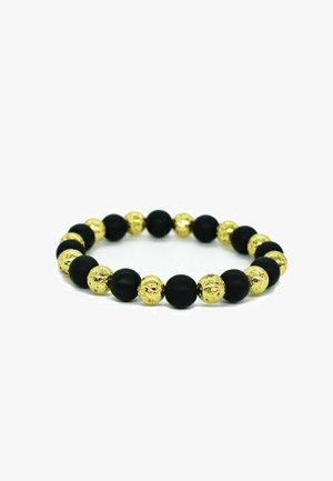 ONYX & LAVA STONE - Armband - gold, black