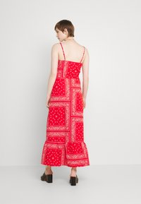 Never Fully Dressed - RED BANDANA DRESS - Maxi dress - red - 2