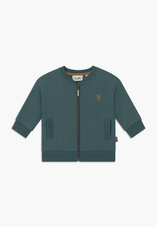 PURE KIDS - veste en sweat zippée - petrol