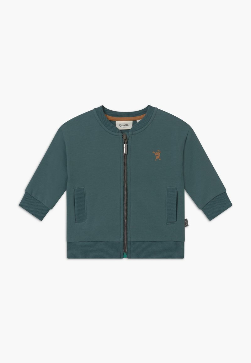 Sanetta - PURE KIDS - Zip-up hoodie - petrol