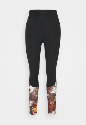 Leggings - brown/black