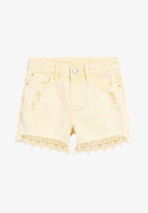 Jeans Short / cowboy shorts - light yellow
