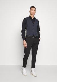 Esprit Collection - WINDOW CHECK - Waistcoat - dark blue - 1