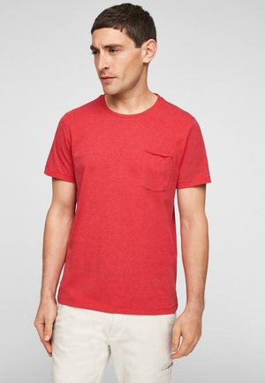 Basic T-shirt - red melange