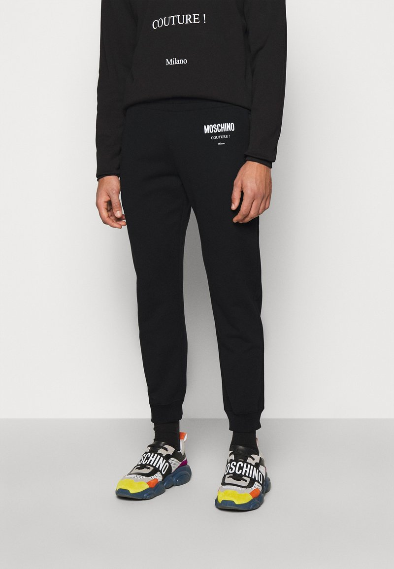 MOSCHINO - TROUSERS - Tracksuit bottoms - black