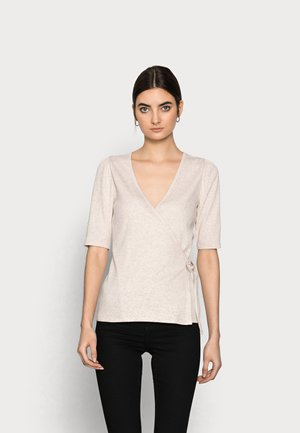 WRAP - Print T-shirt - oatmeal heather