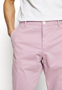 Tommy Hilfiger Tailored - STRETCH SLIM FIT PANTS - Tygbyxor - purple - 3