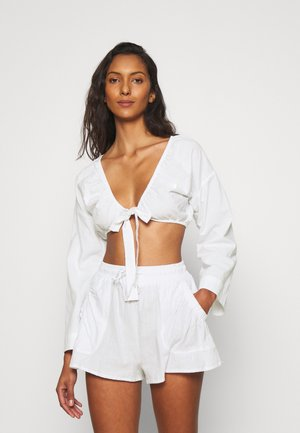 TIE FRONT BEACH SET - Beach accessory - white