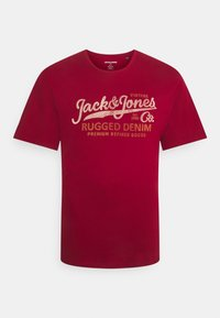 Jack & Jones - JPRBLUSTAR TEE MARCH 3 PACK - T-shirt z nadrukiem - navy blazer - 3