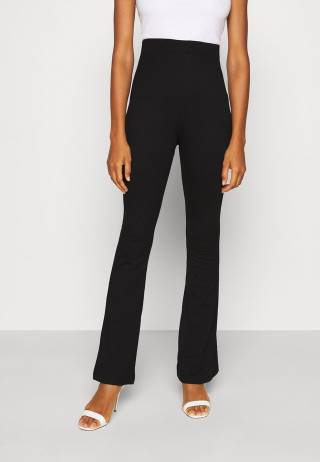 FLARE PANT - Leggings - Trousers - black