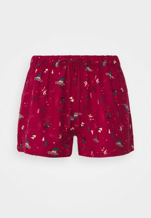 SHORT SKI - Pyjamabroek - rumba red