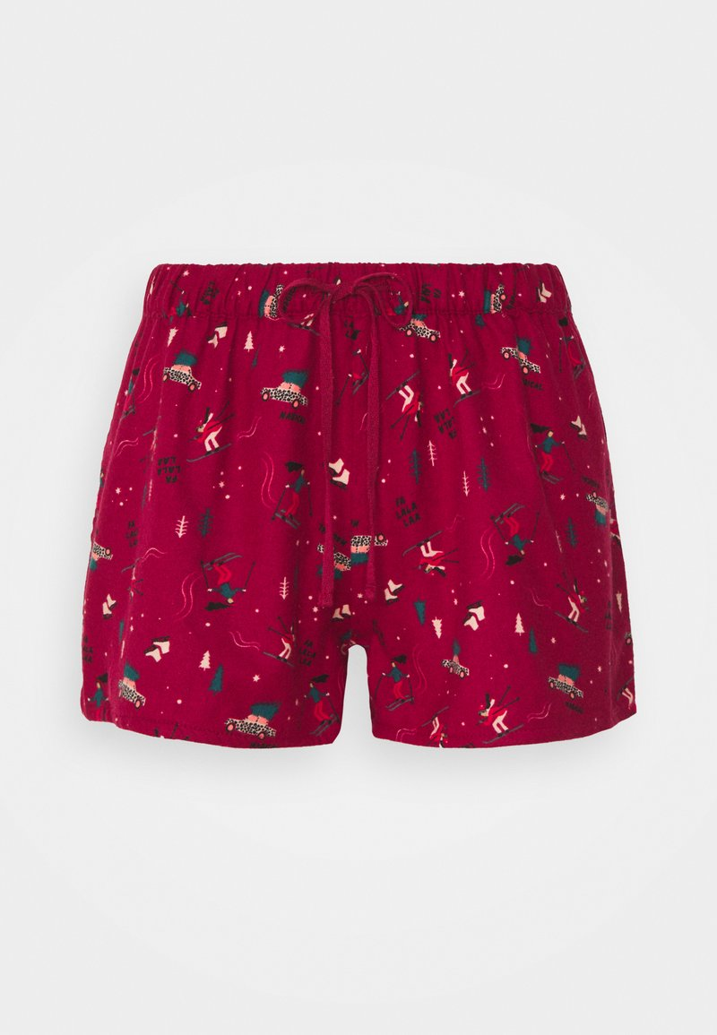 Hunkemöller - SHORT SKI - Pyjama bottoms - rumba red
