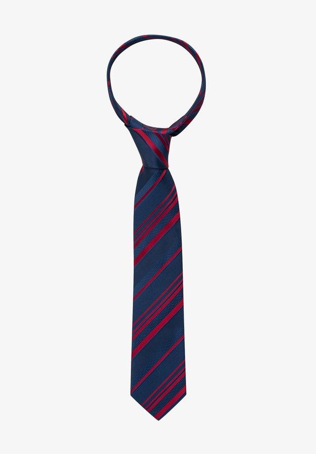 Tie - marine/rot