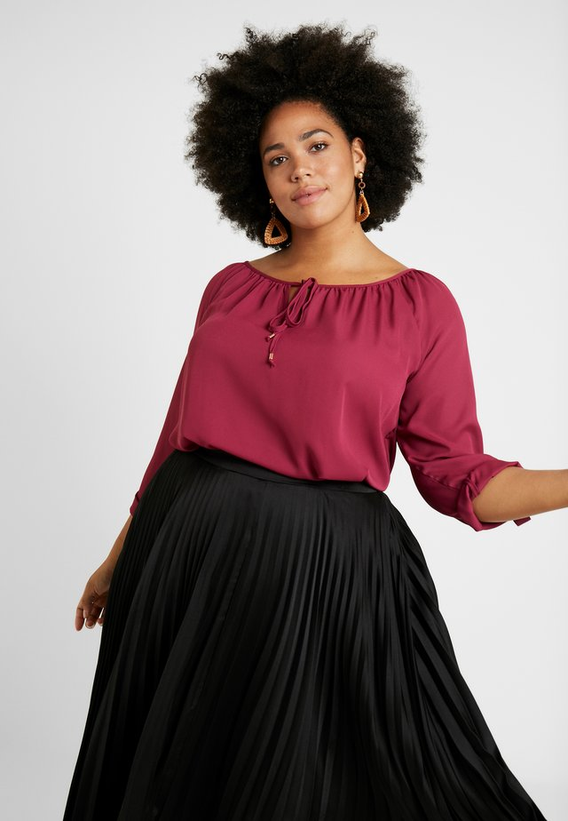 BILLIE AND BLOSSOM TIE NECK LONG SLEEVE - Blouse - pink