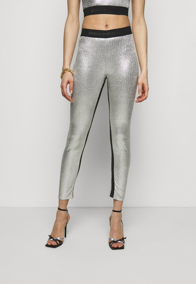 PANTALON - Leggings - Trousers - silver