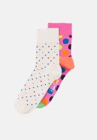 Happy Socks - DOT HALF CREW SOCK BIG DOT HALF CREW SOCK UNISEX 2 PACK - Socks - multi-coloured - 0
