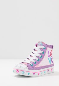 Skechers - FLIP-KICKS LOVE REVERSIBLE SEQUINS - High-top trainers - lavender durasatin/multicolor sparkle - 2