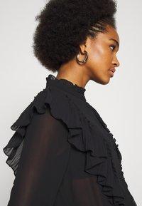 Vero Moda - VMIRIS FRILL  - Button-down blouse - black - 5